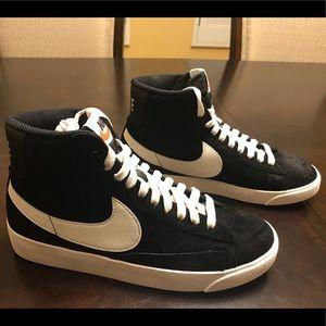 New Nike Blazer Mid Vintage Black Suede Sneaker 6